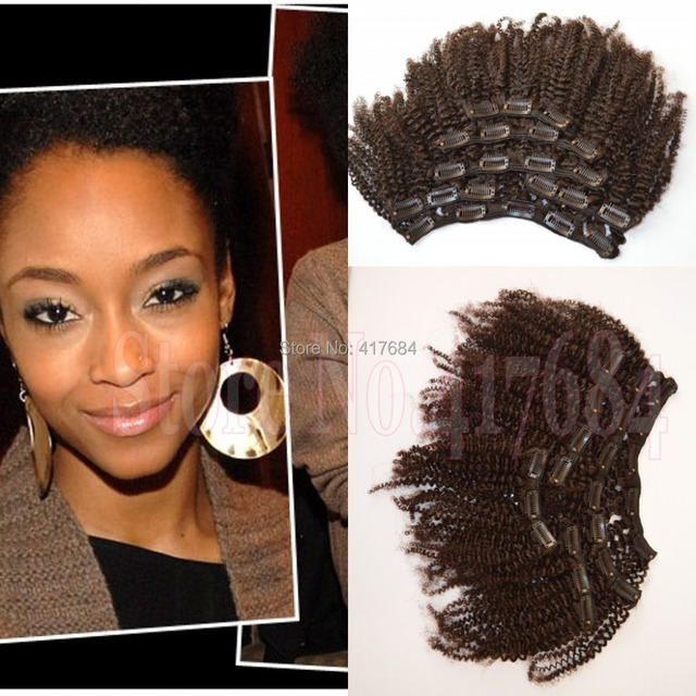 Discount Merry Christmas Afro Kinky Curly Mongolian Hair Clip In