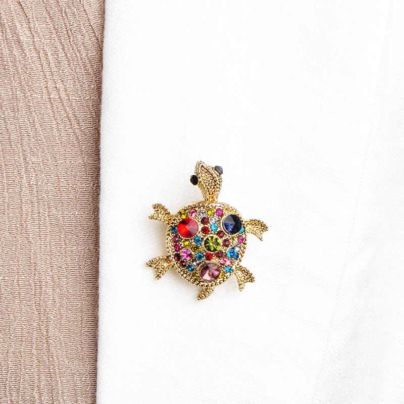 Monili di modo di Cristallo Tartaruga Spilla di Alta Qualità Unisex Tortoise Spilla Animale Corpetto Bouquet Bijuterias Pin Hijab Per Le Donne