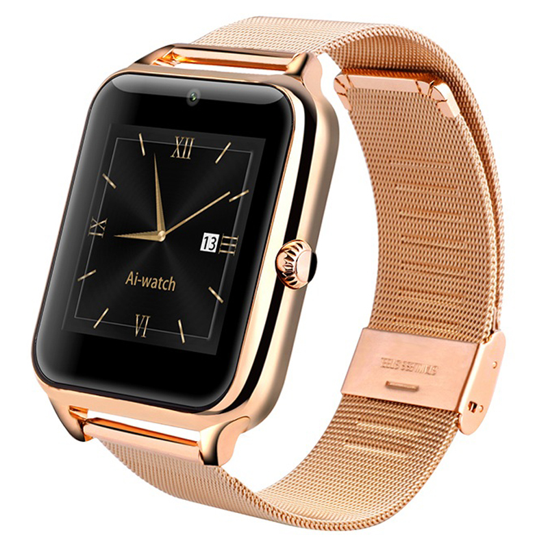 Bluetooth font b SmartWatch b font Smart Watch with Heart Rate SIM Card TF mp3 mp4