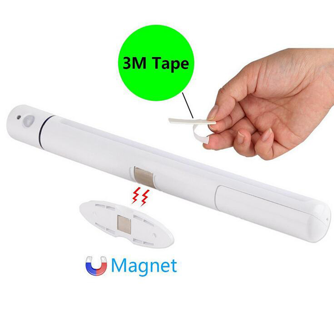 Portable Wireless LED Closet Cabinet Night Light Motion