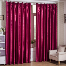 New Modern Style Custom Made Silk Like Shading Curtains for living room bedroom Blackout curtain Red