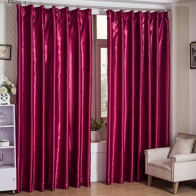 US $19.74 20% OFF|New Modern Style Custom Made Silk Like Shading Curtains  for living room bedroom Blackout curtain Red Curtains Home Wedding Decor-in  ...