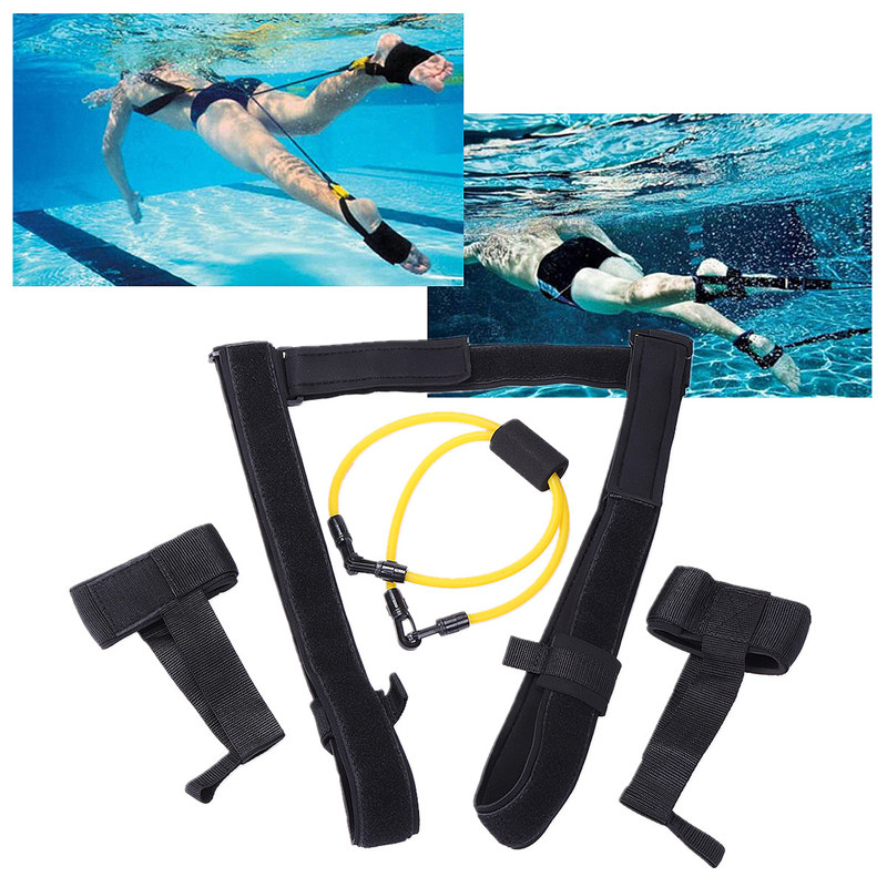 New adjustable adult kids swimming bungee exerciser leash - Swimming pool accessories for adults ...