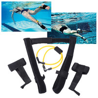 New Adjustable Adult Kids Swimming Bungee Exerciser Leash Training Hip Swim Training Belt Cord Safety Swimming Pool Accessories