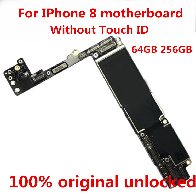Board Touch-Id iPhone 256GB for 8/Motherboard/Unlocked/100%original Gift Logic -Tool