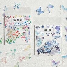 Decoration Sakura Sticker Album Package Scrapbooking Butterfly Cute Foods DIY 20-40pcs/Bag