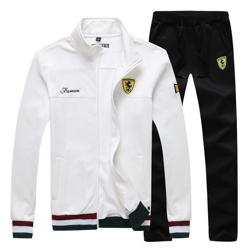 2019 Men Sportswear Chandal Hombre Spring Suit Clothes Tracksuits Male Sweatshirts Jacket+Joggers Plus Size 2 Pieces Set Outfit