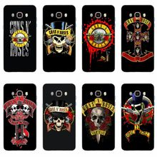 Fashion Guns N Roses Penutup Silikon Lembut TPU Phone Case untuk Samsung Galaxy S6 S6edge A7 S7edge S8 S9 PLUS a5 J5 2016 A3 2017(China)