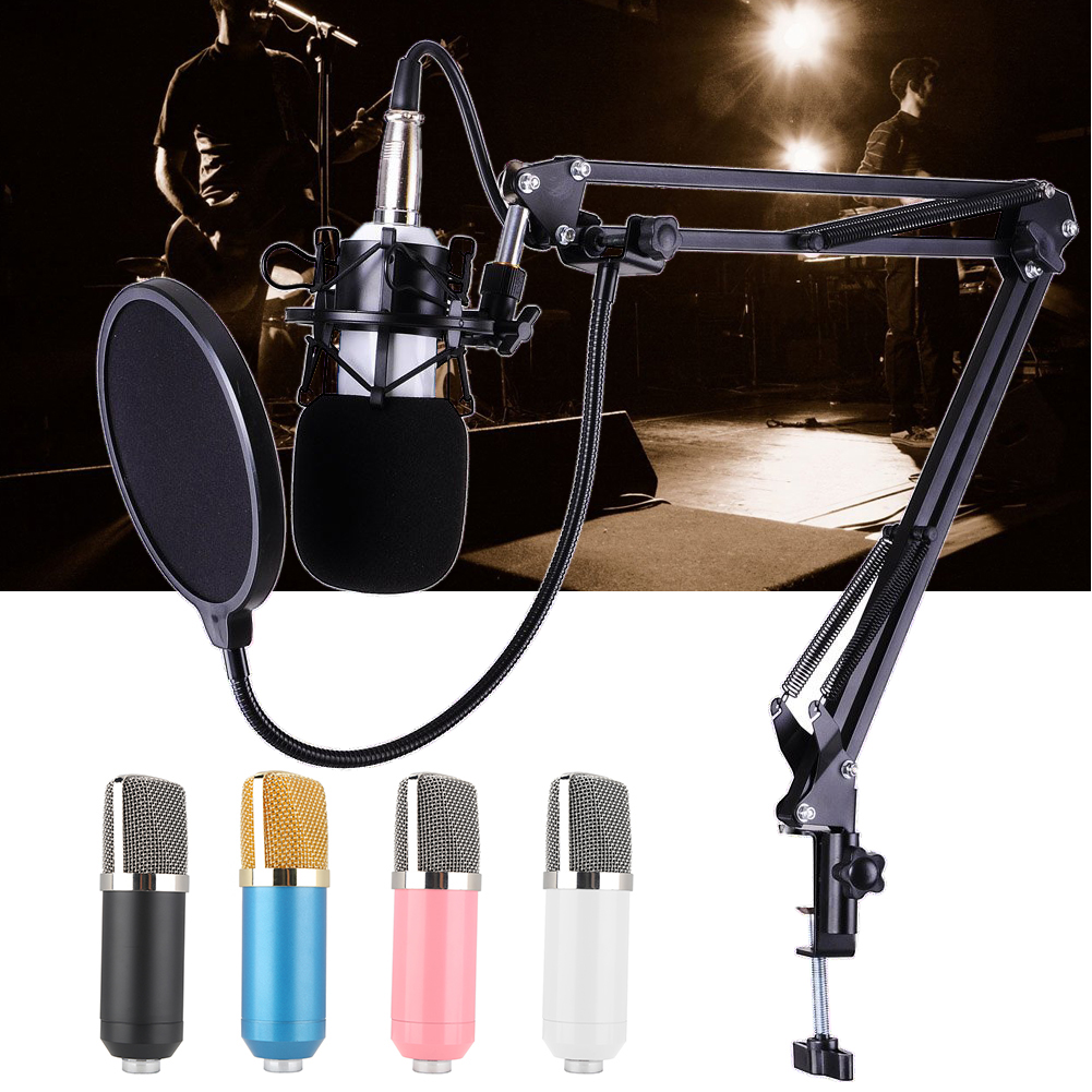 BM-700 Professional Studio Microphone Sound Recording Broadcasting Condenser Microphones Wired Mic KTV Mic+ Shock Mount Anti best quality yarmee multi functional condenser studio recording microphone xlr mic yr01