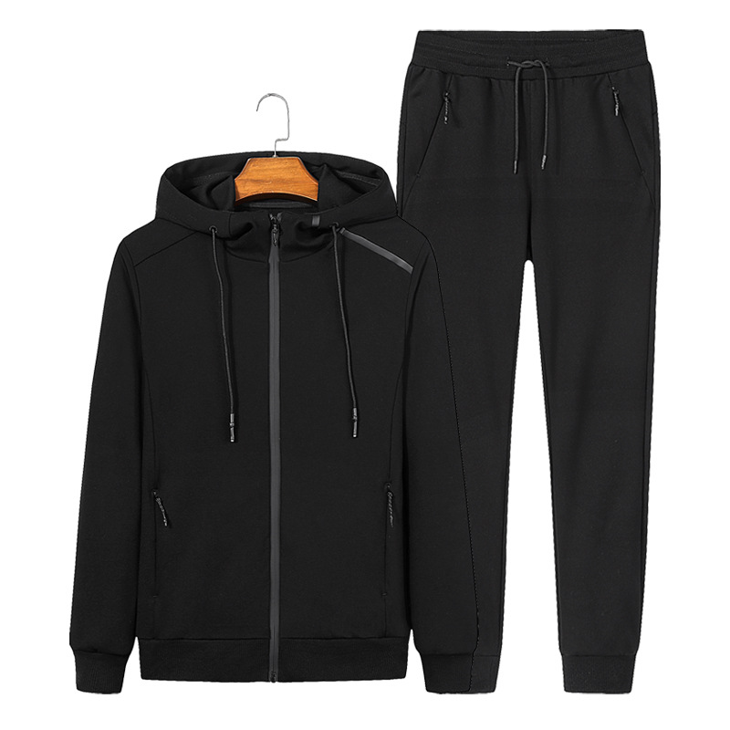 Hommes survêtement hommes Sportswear lâche Gym vêtements homme course Jogging costumes Zipper deux pièces veste + pantalon grande taille 6XL 7XL 8XL
