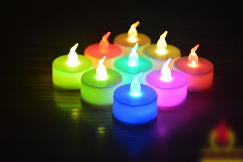 9 PCS LED Tea Light Candles Light Lamp Flickering Flameless Candles Christmas Party Wedding Candles Safety Home Decoration