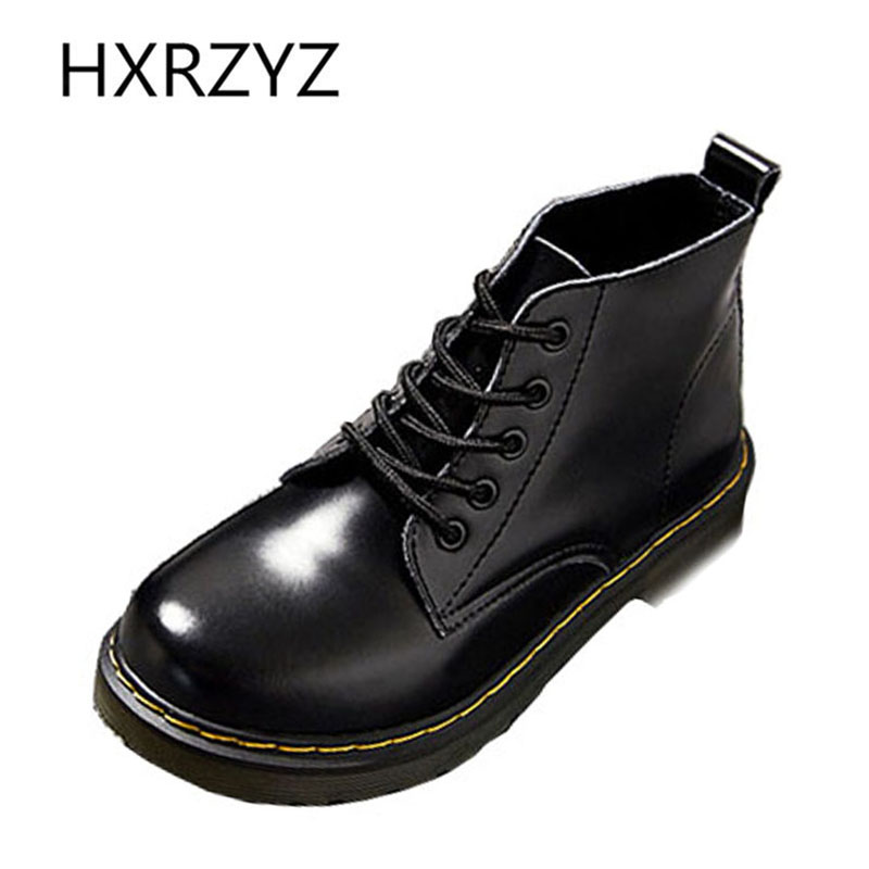 New retro classic British style women boots motorcycle boots Spring / autumn Large size leather Ankle boots Ladies autumn shoes nils master baby shad 5cm vertical jigging ice fishing lures