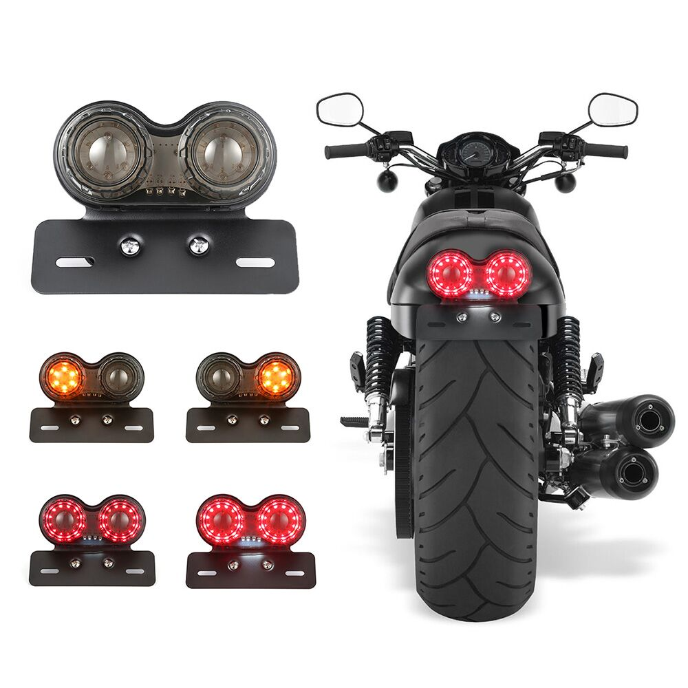Motorcycle Turn Signal Brake Led Light License Plate Holder Tail Lights LED Brake Tail Lamps For Harley Bobber Cafe Racer ATV игровой набор peppa pig пеппа и друзья