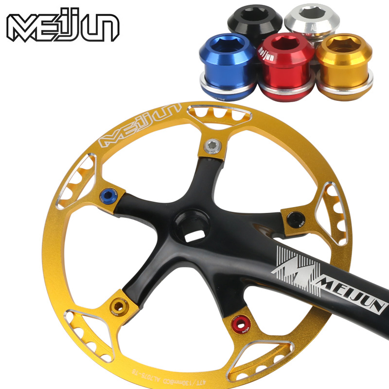 MTB Mountain Bike Road Bicycle Multi Coloured D5 Bolts Aluminum Alloy Crankset Crankset Crank Screws Nut For Chain Wheel