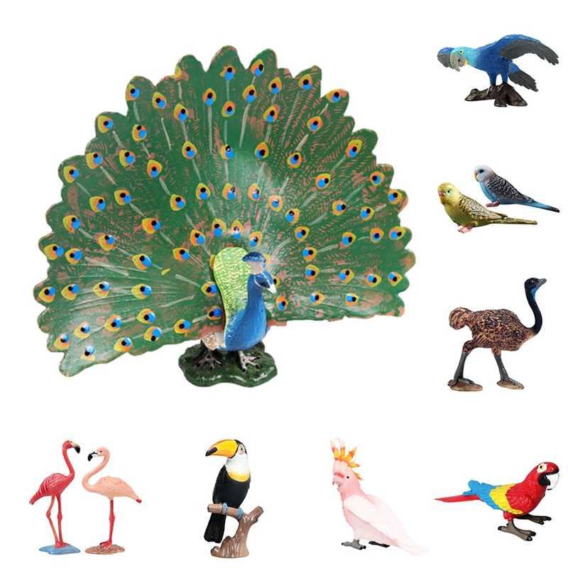 Animal Shape Craft Bird Statue Plastic Craftwork Decoration Garden Emulational Statues Yard Sculptures Miniature
