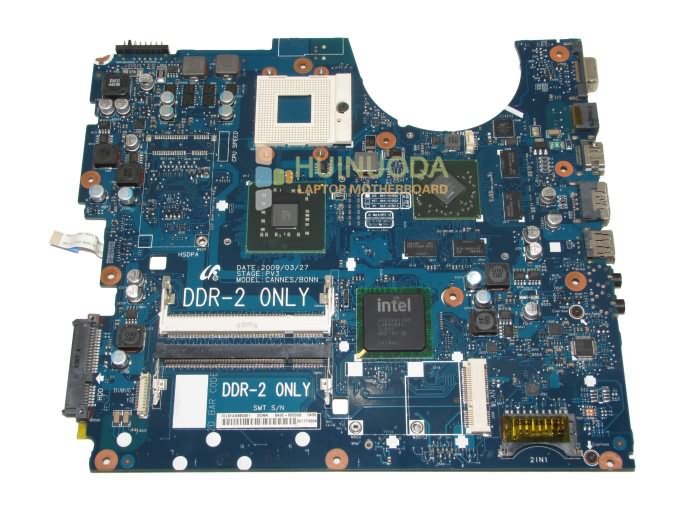 Laptop motherboard For Samsung R520 R522 R620 Main board BA92-05556A pm45 DDR2 with ATI graphics card Free CPU ba92 05127a ba92 05127b for samsung np r60 r60 laptop motherboard ddr2 intel ati rs600me