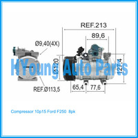 make cool auto ac Compressor for Ford F250 Ford 250/350/4000 JOHN DEERE Mercedes Benz Acelo 915 8pk 12v