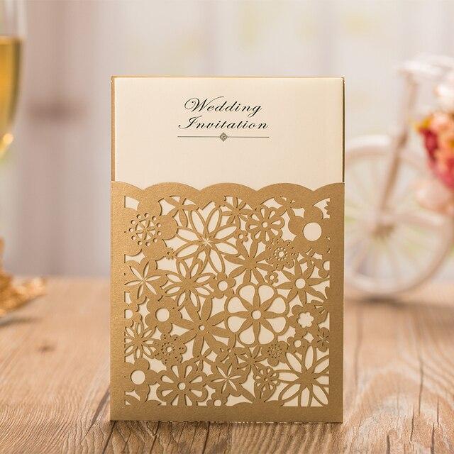Gold Laserschneiden Einladungskarten, Gold Hochzeitseinladungskarte, Freies  Personalisierte Kundenspezifische Hochzeitseinladungen Karten