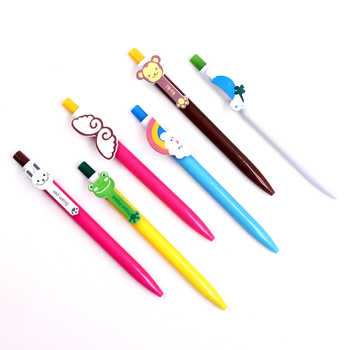 Jonvon Satone 60 Pcs Kawaii Cartoon Ballpoint Pens Cute Lovely Cat Bird Ball Pen Plastic School Supplies Korean Stationery Gifts