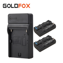 Cheap price 2x 2600mah NP F550 NP F570 Rechargeable Video Camera Batteria Pack For Sony NP-F550 NP-F570 Digital Battery Batteries + Charger