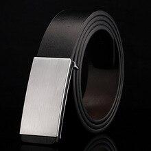 100% cowhide genuine leather belts for men Strap male Smooth buckle vintage jeans cowboy Casual designer brand belt