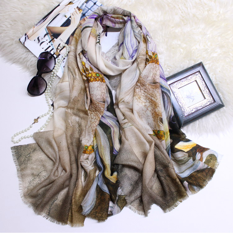 Flying Horse   Scarf   Women Pure 300s Cashmere Female   Scarves   Winter Shawls   Scarf     Wraps   Warm 200*100cm