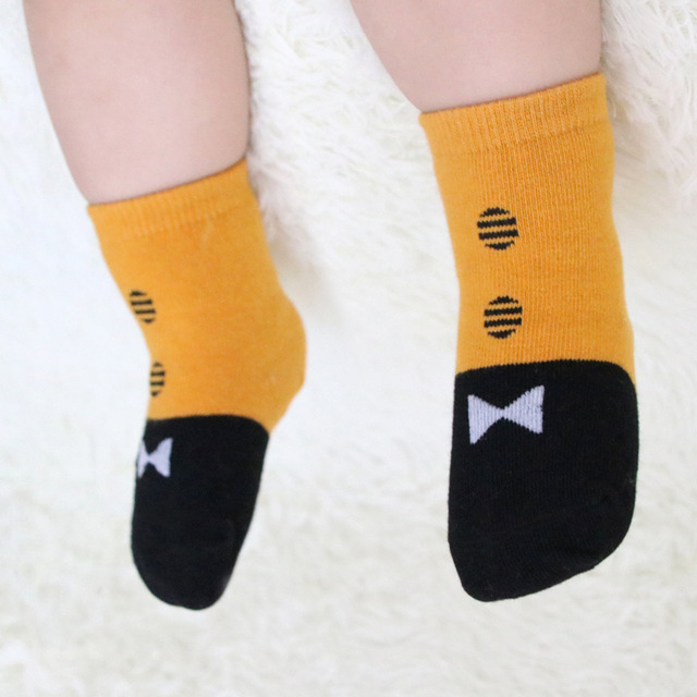 Retail Unicorn Cotton Boys and Girls Floor Socks Gentleman Bow Tie Baby Short Socks WZ15