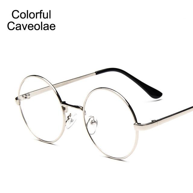 Colorful Caveolae Women Glasses Fashion Retro Round Ladies Glasses ...