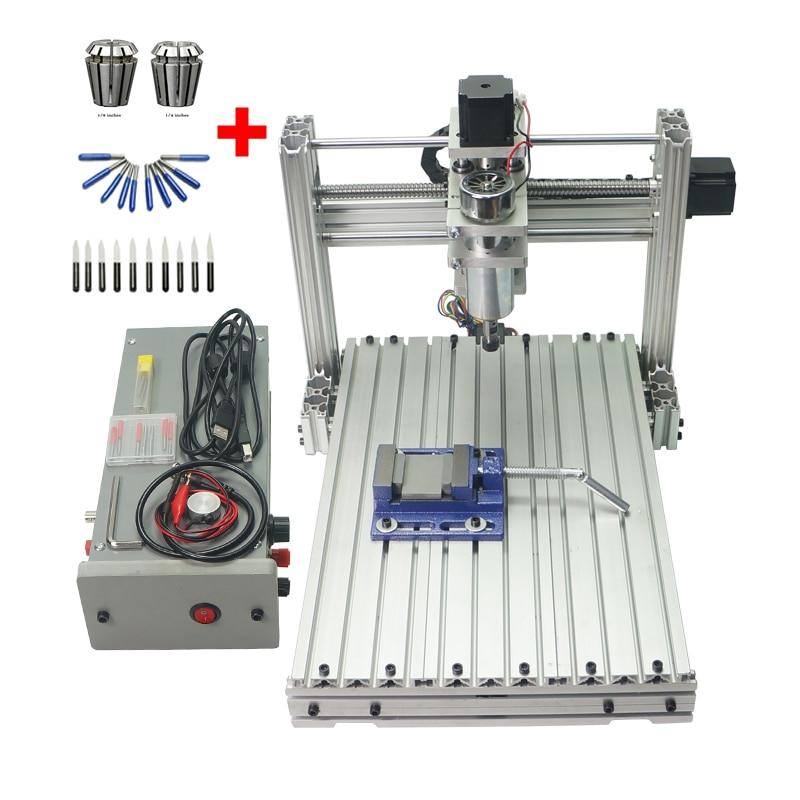 DIY en métal machine de gravure 3040 3 axe 4 axe 5 axe CNC Routeur USB port de forage de coupe