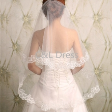 2018 Korean New Lace Long Bride Wedding Veil Wedding Gauze Sequins Lace White Dress Wedding Accessories
