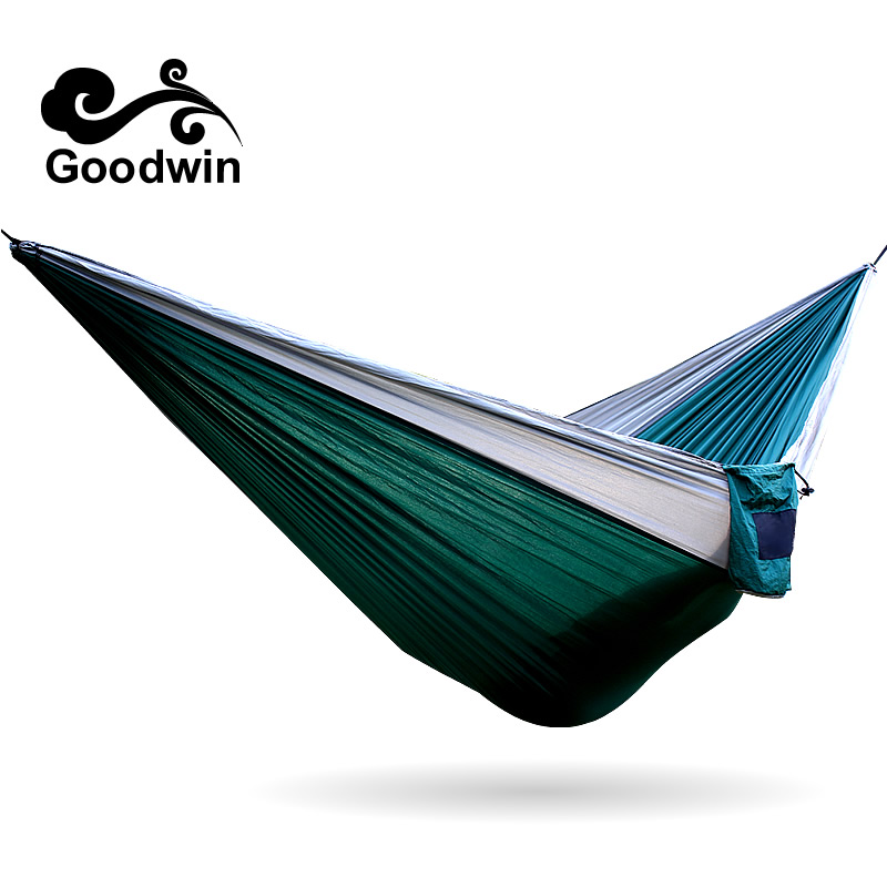 Portable Outdoor Leisure Traveling Camping Parachute Nylon Fabric Parachute Hammock for Two Person 12 Colors High Quality thicken canvas single camping hammock outdoors durable breathable 280x80cm hammocks like parachute for traveling bushwalking