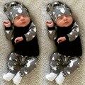 Nova nascidos Roupas de Inverno Menino Outono Conjunto Chapéu Do Bebê Dos Cervos Da Menina Tops T-shirt + Leggings Roupas Pijamas Set 2 pcs