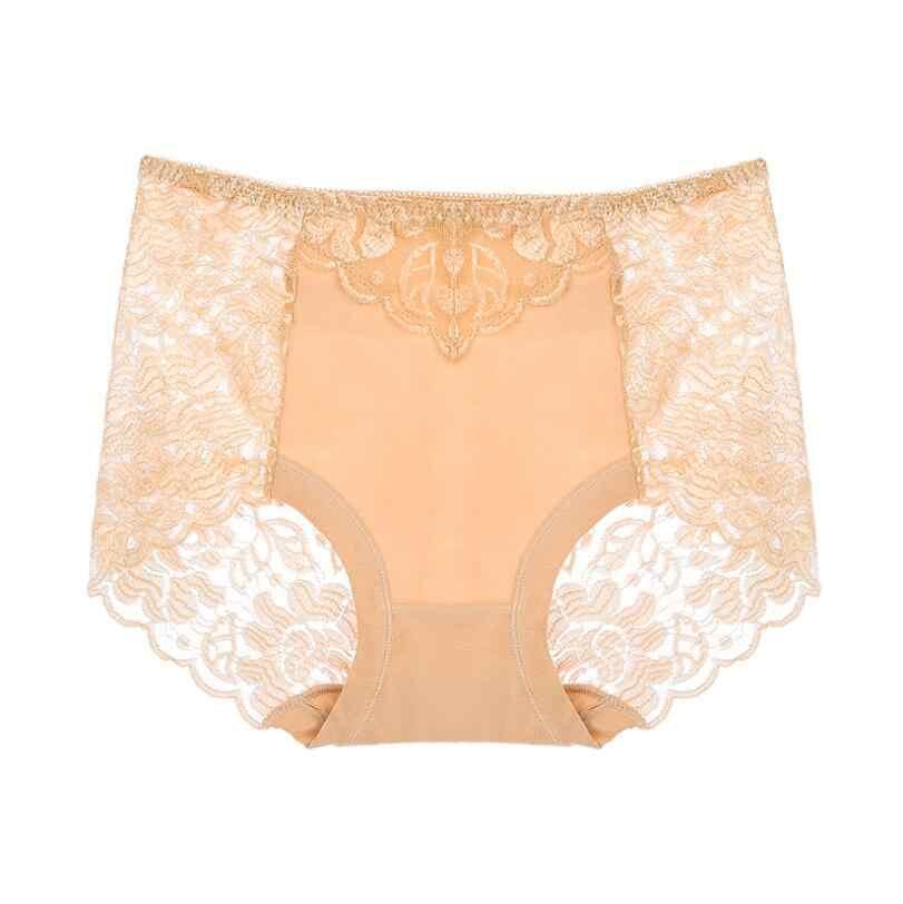 Gratis Pengiriman 2019 Murni Warna Kapas Di Pinggang Ukuran Plus MS Celana Tidak Melacak Lebih Seksi dari Pinggang Tinggi modal Ukuran L XL XXL XXXL