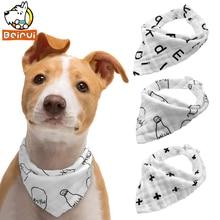 3 шт. бандана для собак белый шарф для собак хлопок аксессуары для ухода кошек собак бандажный ошейник для маленьких и средних домашнее животное чихуахуа