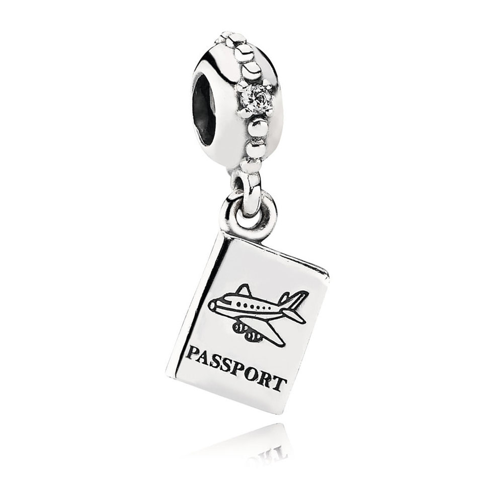 4762dccd1 925 Silver Travel & Love Pendants Fit Pandora Bracelet Lucky Day Passport  Love & Guidance Dangle I Love You Charm DIY Jewelry-in Beads from Jewelry  ...