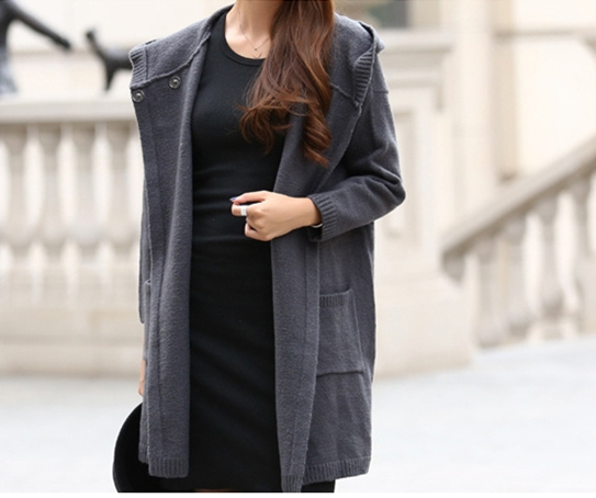 Aliexpress.com : Buy Women Hooded Sweater Knitted Coats Ladies ...