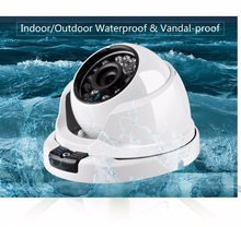 Wide Angle 2.8MM Lens 720P 960P 1080P VandalProof Anti-vandal Indoor Outdoor IP Camera Metal Case IP66 With Mount