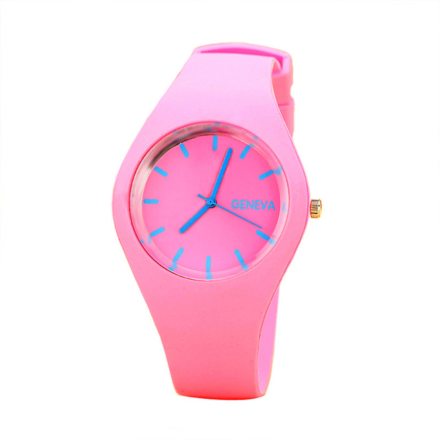 2019 luxury brand women's watches Sports Candy-colored Jelly quartz-watch Silico