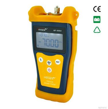 Free Shipping ! NOYAFA NF-906A  Portable Optical Power Meter General Connector SC FC ST -70 to +10dBm noyafa nf 905 30mw pen type visual fault detector fiber broken checker with fc sc st connector best for sm mm fiber checker