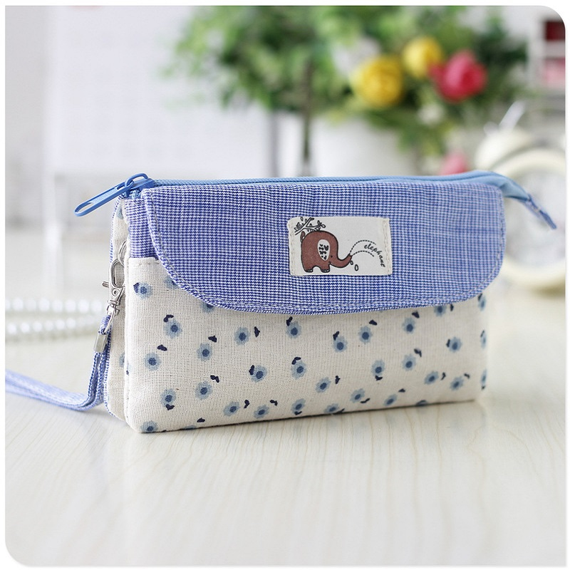 Mini Handbags Bolsas Clutches-Bags Patchwork Small Female Girls Cotton Women's for Phone