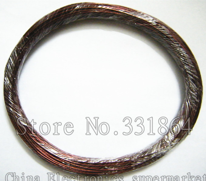 50m Free shipping 1.4mm QZY 2/180 polyester imide enameled copper wire 180 degree heat copper wire