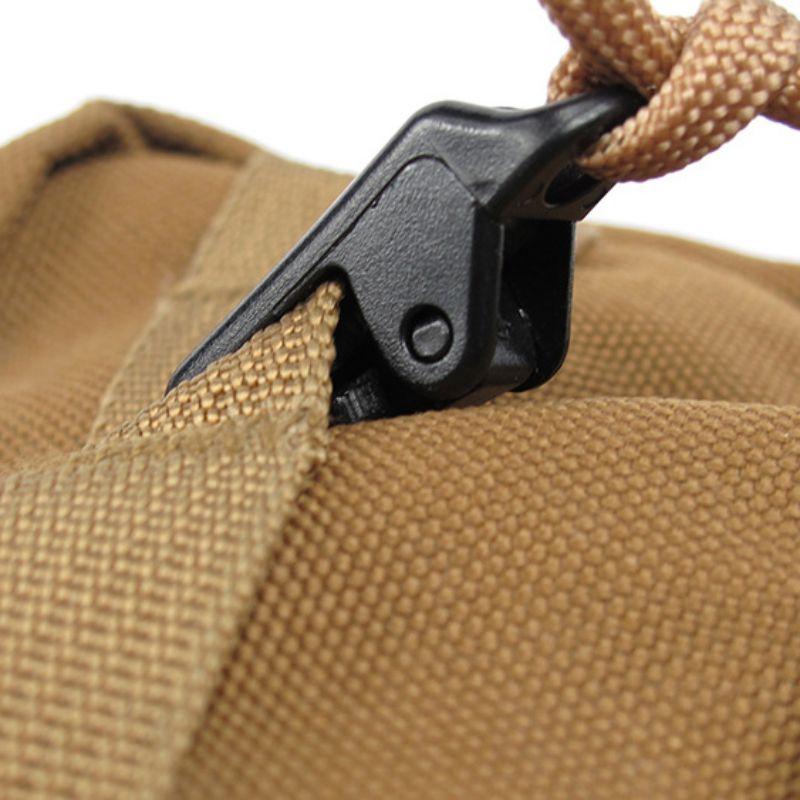 50pcs Tent Awning Clamp Tarp Clips Snap Hangers Caravan Gear Emergency Tool