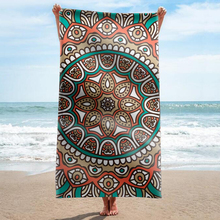 GNORRIS Sand Free Microfiber Mandala rectangle Beach Towel Blanket - Quick Dry Super Water Absorbent Yoga mat