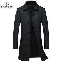 SHNABAO брендовая мужская повседневная шерстяная куртка 2018 г. зимние плотные теплые роскошные высокого качества модные вязаные шерстяные Тонкий лацкане пальто A17266
