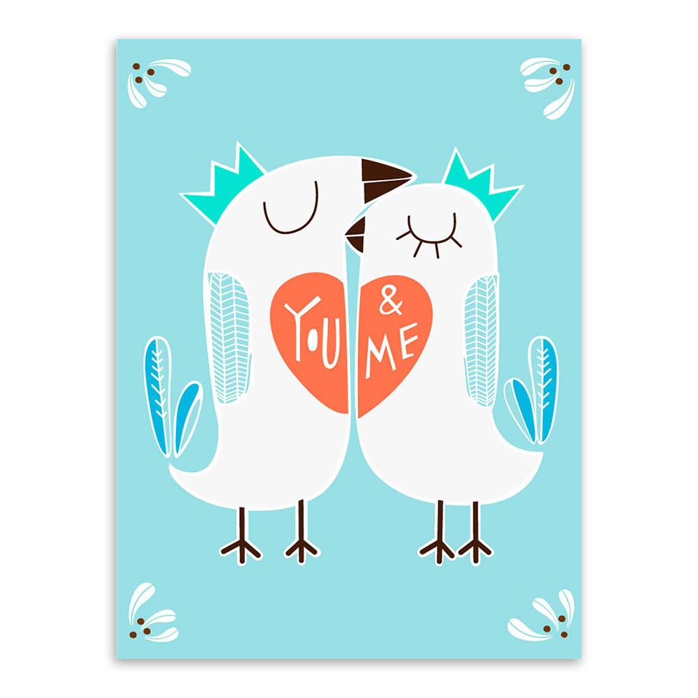 Love Bird Quotes Triptych Bird Love Kiss Motivational Typography Quotes Animal Art