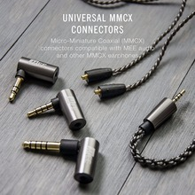 Discount! MEE Audio MMCX 2.5mm Balanced Audio Cable with 3.5mm 4.4mm Stereo Adapter Set