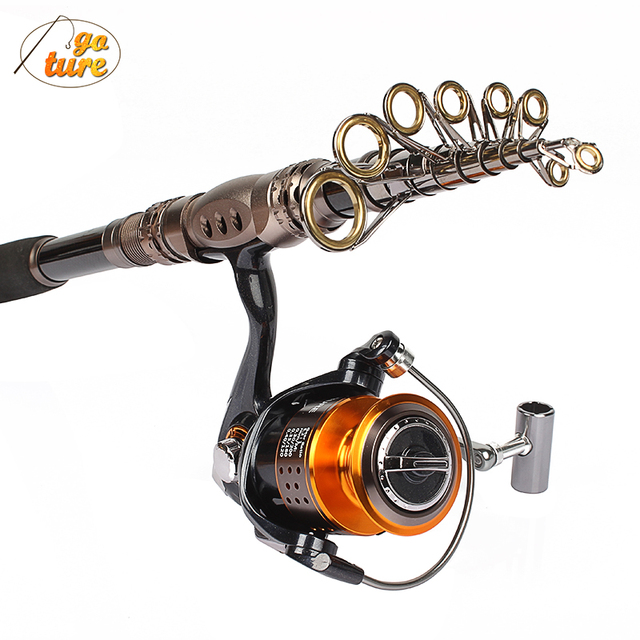 Goture Reel and Rod Combos  Portable Telescopic Spinning Fishing Rod Carbon Fiber Generic GT4000 Spinning Fishing Reel