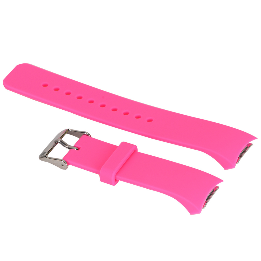цена на Luxury Silicone Watch Band Strap for Samsung Galaxy S2 Gear SM-R720 pink