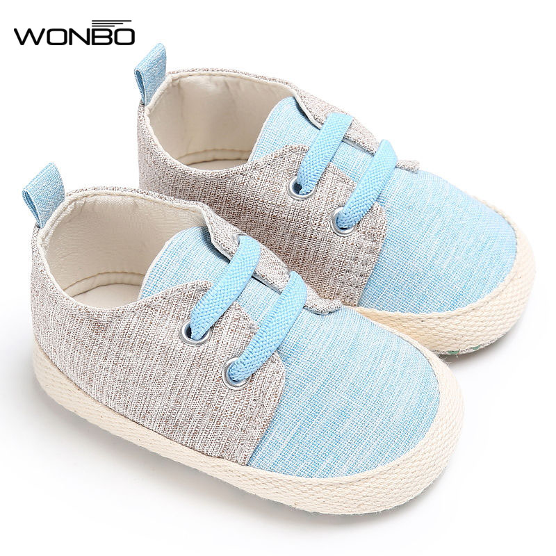 WONBO 2019 Fashion Handsome Classic Casual Newborn Baby Boys Kids First Walkers Soft Soled Prewalker Shoes Footwear