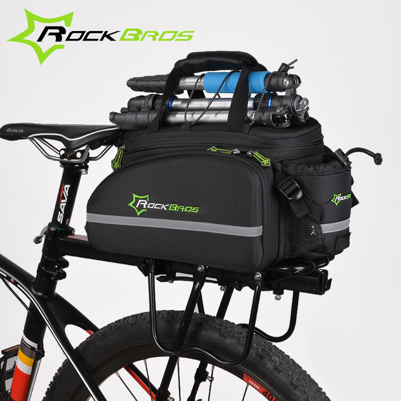 ROCKBROS Bike Bag 12L Bicycle Trunk Bag Seat Bag 2017 MTB Road Waterproof Cycling Rack Bag Backpack With Rain Cover Accessories west biking bike chain wheel 39 53t bicycle crank 170 175mm fit speed 9 mtb road bike cycling bicycle crank